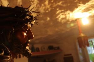 La imagen del Cristo de la Salud que se ubica en una cueva