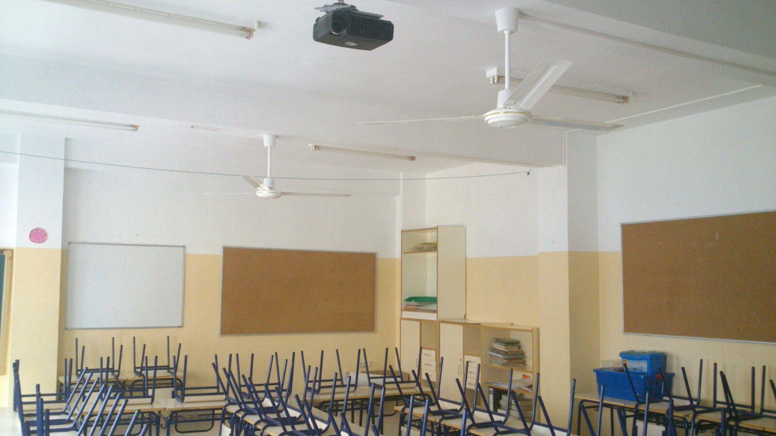 El ayuntamiento de algorfa instala ventiladores en las aulas del colegio miguel de cervantes y - Fotos de ventiladores ...