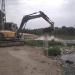 La CHS trabaja en la limpieza del cauce antiguo del río Segura en su desembocadura