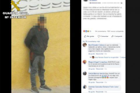 La Guardia Civil detiene en Benidorm al presunto autor de medio centenar de robos gracias a las redes sociales
