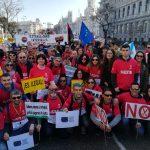 Medio centenar de empleados públicos del ayuntamiento de Rojales se suman a la manifestación de Madrid contra el abuso de temporalidad